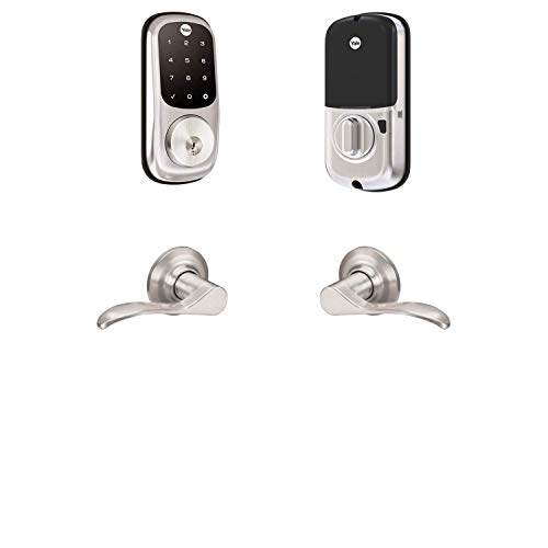 Yale Assure Lock Touchscreen, Wi-Fi Smart Lock with Norwood Lever - Works with the Yale Access App, Amazon Alexa, Google Assistant, HomeKit, Phillips Hue and Samsung SmartThings, Satin Nickel
