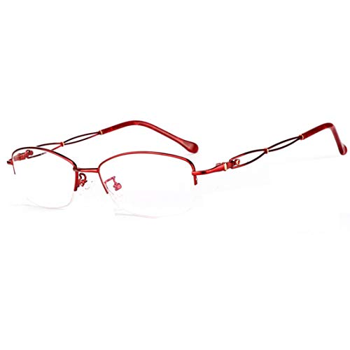 Photochromic Nearsighted Shortsighted Myopia Computer Reading Glasses Sunglasses for Women (Red, -0.75)