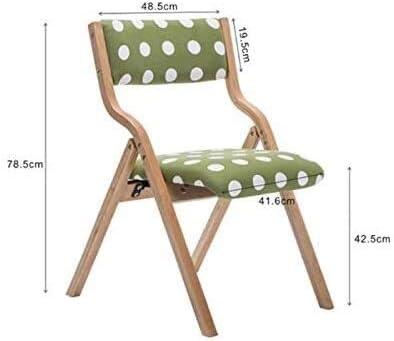 GSN Chaise de salle, chaise pliante chaise de cuisine en bois courbé, simple chaise arrière, chaise dDining fauteuils (Color : D) F