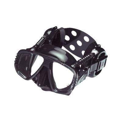 ME55-BSVAR masker duikbril met oorbeschermers gemaakt van siliconen PRO EAR Blanco Y Gris
