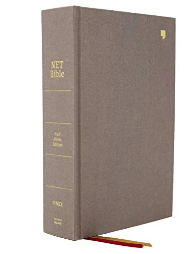 NET Bible, Full-notes Edition, Cloth over Board, Gray, Comfort Print: Holy Bible