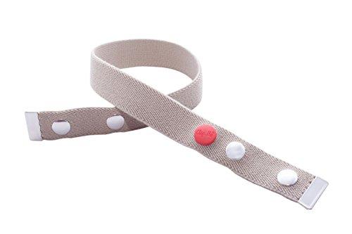 Clip.Ho TWO - Der Gürtel ohne Schnalle mit Metallenden, Elastischer Gürtel beige Gr.92-116