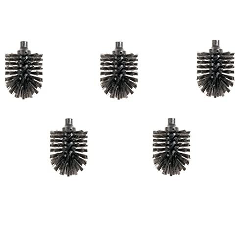 HEWI Ersatzbürstenkopf schwarz (5 Stück, Durchmesser 81 mm, mit Bajonettverschluss, für WC-Bürstengarnituren von Serie Lifestream, 805 Classic, 801 und 477) 921044, Standard