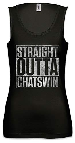 Urban Backwoods Straight Outta Chatswin Dames Tank Top Gym Shirt