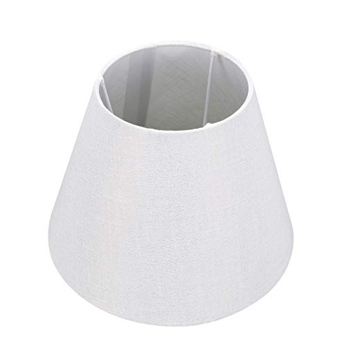 OSALADI Clip de Pantalla de Lámpara de Tela en Bombilla Pantalla de Tela de Barril E27 para Lámpara de Mesa Lámpara de Araña Lámpara de Pared Bombillas de Vela Lámpara de Pie