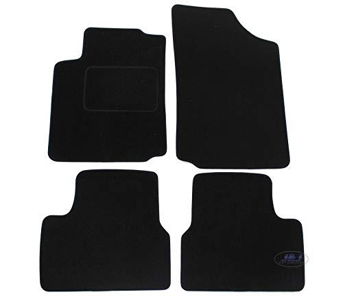 J&J AUTOMOTIVE | Tapis DE Sol Noir Velours Compatible avec Citroen C3 C-3 2002-2010 4 pcs
