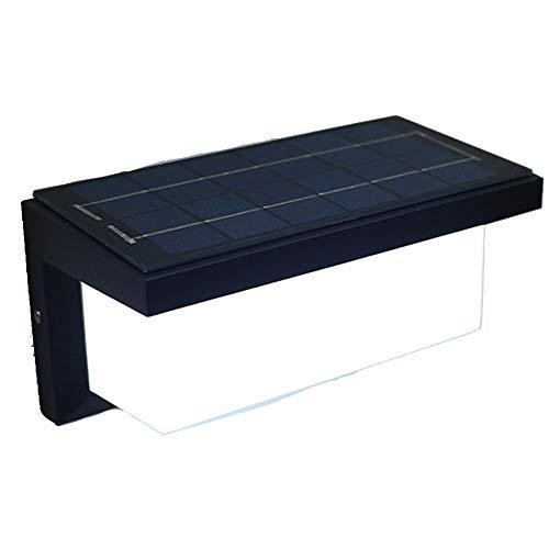OUYA Lámpara de Pared Solar, Nivel IP65 con Sensor de Movimiento, lámpara de Pared Exterior para Patio, balcón, Garaje, Taller,A