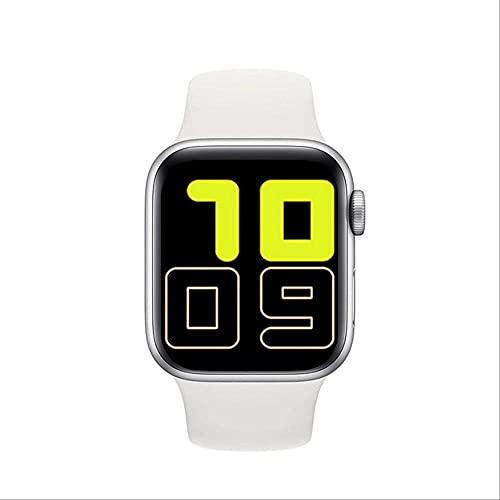Reloj Inteligente Señoras Full Touch Correa Inteligente Bluetooth Llamadas Recordatorio Hombres s Reloj Rastreador de Salud Pulsera Deportiva-Blanco