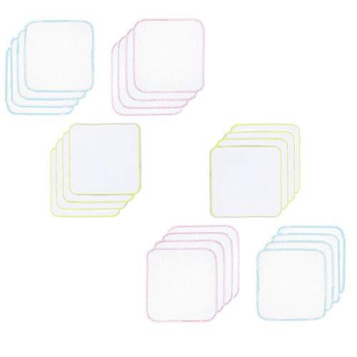 ガーゼハンカチ ガーゼタオル 無地 ベビービブ− ダブルガーゼハンカチ 綿100% 30*30�p 24枚 (カラー2)