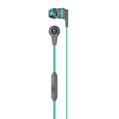 Skullcandy Ink'd 2.0 Noise-Isolating Earbud with In-Line Microphone and Remote, Tangle-Reducing Flat Cable, Supreme Sound with Powerful Bass, Natural Vocals, and Precision Highs