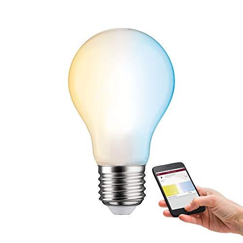 Paulmann 50392 SmartHome LED Lampe ZigBee AGL Filament TunableWhite Allgebrauchslampe 7 Watt dimmbar Leuchtmittel Matt effizientes Licht Goldlicht bis Tageslichtweiß 2200-6500 K E27
