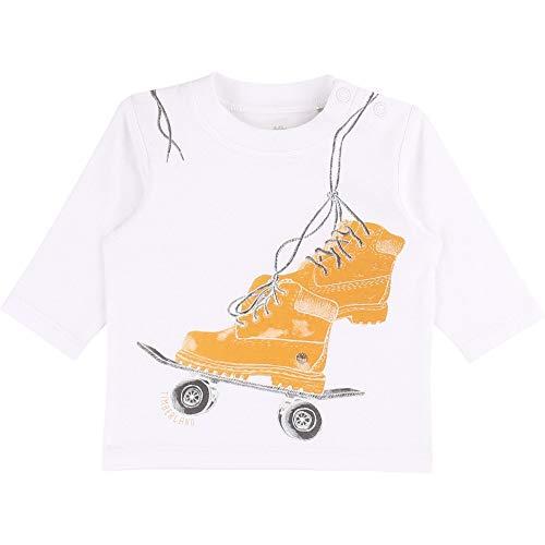 Timberland T-Shirt en Coton Biologique Bebe Couche Blanc 1MOIS