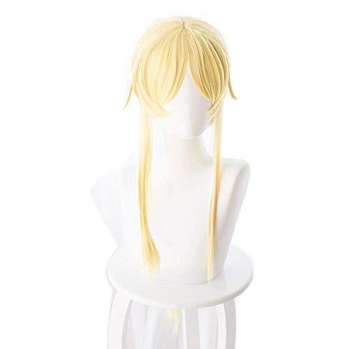 PANQQ Sword Art Online Alicization Alice Synthesis Thirty Golden Long Braid Peluca Cosplay Disfraz SAO Pelo resistente al calor Pelucas de mujer