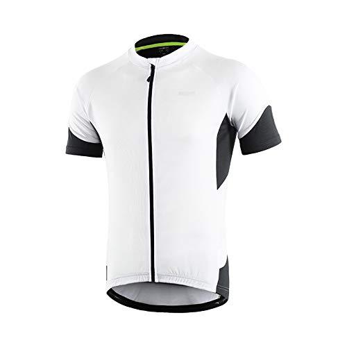 Heren compressieshirt mountainbike-pak met korte mouwen, ademend en ademend.