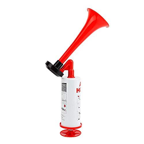 Hlyjoon Handheld Air Horn Pumpe Laut Sound Hand Signalhorn für Sportveranstaltungen Camping Auto Marine Boot Sicherheit Feueralarm Aluminium + ABS