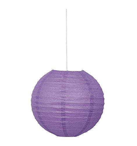 """10"""" Round Purple Paper Lantern"""