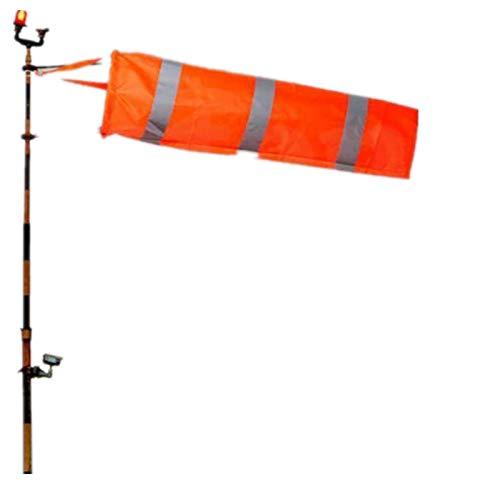 Tammy Yerkes 80cm Flughafen Windsack Orange Wetterfeste Outdoor Wind Socke Reflektierende Gürtel Messung für Windrichtung und Stärke Anzeige