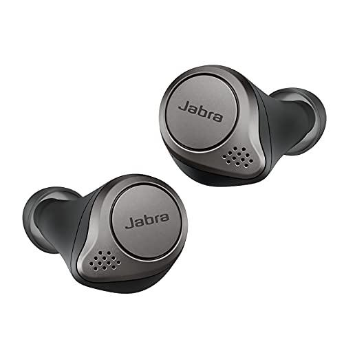 Jabra Elite 75t - Écouteurs Bluetooth avec réduction de bruit active et autonomie élevée de la batterie pour appels et musique sans fil - Noir titane