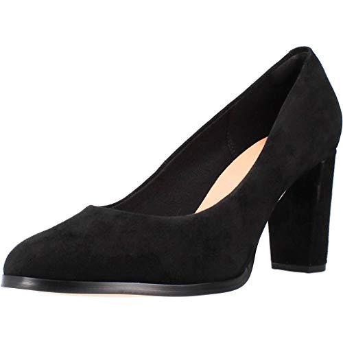 Clarks Kaylin Cara, Zapatos de Tacón para Mujer, Negro (Black SDE Black SDE), 39 EU