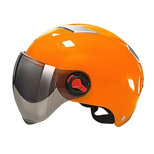 AFSDF Cascos de Ciclo de montaña Señoras con Visera Tamaño Ajustable 55-60 cm Ciclismo de Bicicleta Ligero Grande para Adolescentes Mujeres Hombres niños,Naranja