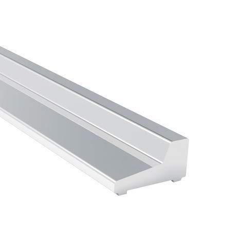 Generisch Kraus Premium Aluminium Design Schwallschutzleiste Dusche SPQ1000GC | 1x Boden-Schwallschutz á 1000mm | Chromeffekt