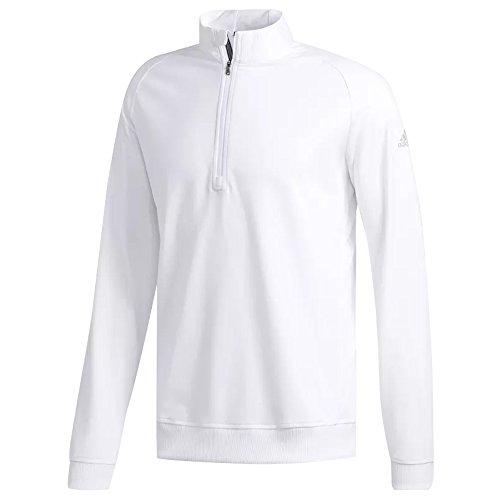 adidas Golf Classic Club - Sudadera con Cremallera 1/4 para Hombre, Color Blanco, pequeño