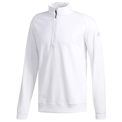 adidas Golf Men's Classic Club 1/4 Zip Pullover Top, White, Medium