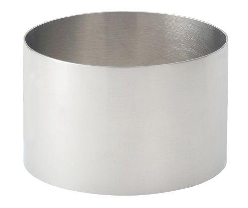 HIC - Anillo de comida (acero inoxidable 18/8, 3,5 x 5,4 cm)