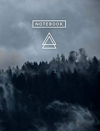 Aesthetic Art Journaling: Light Weight Mountain Hiking Composition Book | 150 College Ruled Pages | Forest Fog
