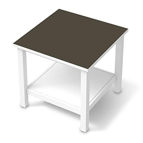 creatisto Möbel-Tattoo passend für IKEA Hemnes Beistelltisch 55x55 cm I Möbelfolie - Möbel-Aufkleber Folie Tattoo I Deko DIY für Wohnzimmer und Schlafzimmer - Design: Braungrau Dark