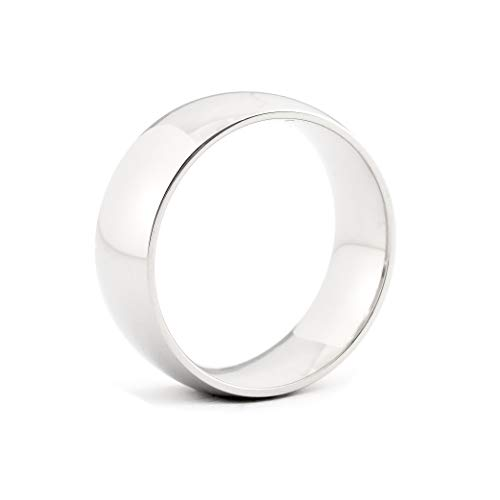 8mm 316L Stainless Steel Ring Matte Finished Engravable Step-Edge Comfort Fit Wedding Band 7mm JFSG 6mm