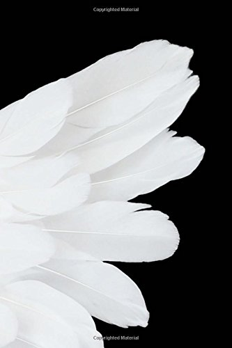 White Angel Wing Journal: 150 Page Lined Notebook/Diary
