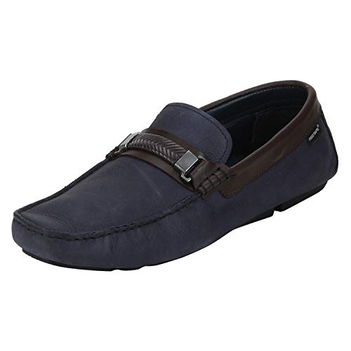 Red Tape Men RTE1244 Blue Leather Loafers-6 UK/India (40 EU) (RTE1244-6)
