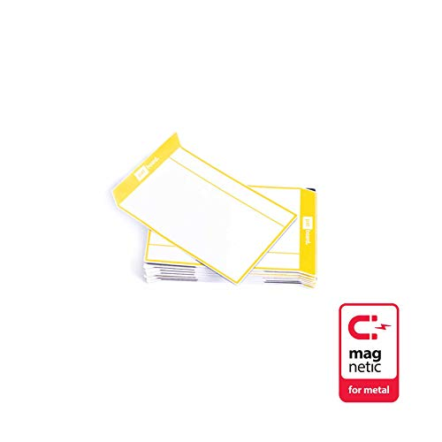 PATboard Scrum Board & Kanban Tafel - magnetische Task Cards - S (klein) - Satz mit 16 - gelb