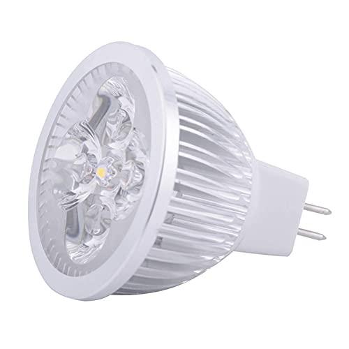 YQGOO Foco LED MR16-4 Watt - 400-440 Lumens - 40W Igual - 3000/6000 Kelvin - 45 Deg.Inundación Estrecha - AC/DC 24V - Base GU5.3 (Color: Blanco cálido, UnitCount: 1PCS)