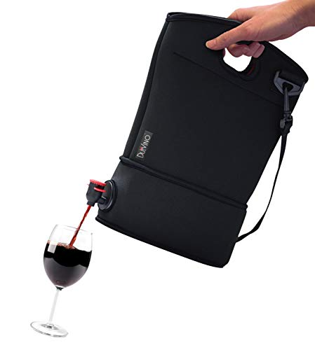Wine Purse with Hidden Spout + 2 Disposable Wine Bladders- Hold Up to 4 Bottles of Wine