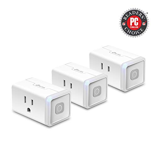 Kasa Smart WiFi Plug Lite by TP-Link -10 Amp & Reliable Wifi Connection, Compact Design, No Hub Required, Works With Alexa Echo & Google Assistant (HS103P3) - White