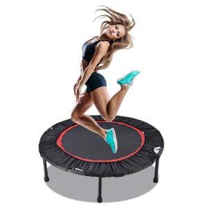Trampolín portátil y plegable de 100 cm, trampolín de ejercicio físico para adultos Mini trampolín de fitness para interiores y exteriores, carga máxima 136 kg