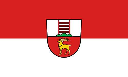 Unbekannt magFlags Tisch-Fahne/Tisch-Flagge: Krauchenwies 15x25cm inkl. Tisch-Ständer