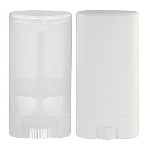 Rimandy 5 Stück leere 15 ml Lippenbalsam Tuben Reise DIY Lipgloss Behälter Kosmetik Lippenstift Flasche Halter (transparent)