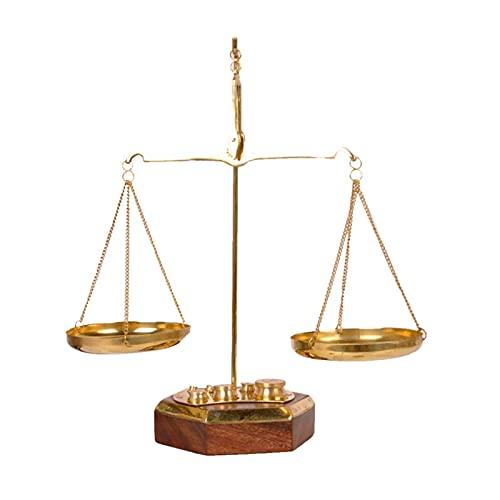 ZHAOH Adornos de Escritorio de Estilo Europeo Adornos de Balance de latón Pure Cobre Apertura Estudio de Escritorio Pórgamo de Escritorio Balanzas de Afortunado Balanzas
