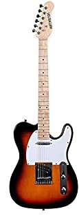 Huntington Solid Body Telecaster Style Electric Guitar (Tobaccoburst)