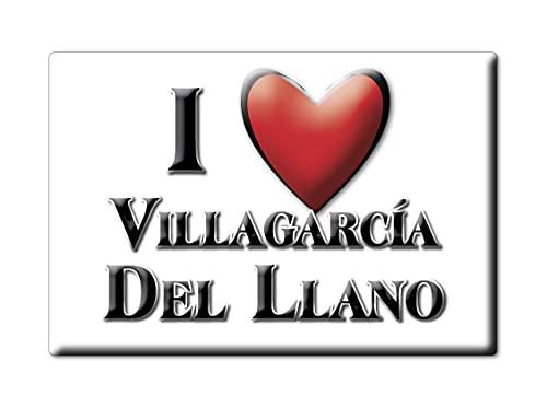 Enjoymagnets VILLAGARCÍA del Llano (CU) Souvenir IMANES DE Nevera ESPAÑA Castilla LA Mancha IMAN Fridge Magnet Corazon I Love