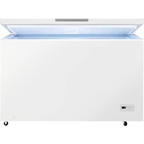 AEG AHB538E1LW Arcón congelador de 1,30 m ancho, Capacidad 371 Litros, 3 cestos, Low Frost, Compresor Inverter, Congelación Rápida, Display LCD, Luces LED interior, Blanco