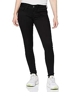 G-STAR RAW Damen Lynn D-mid Waist Super Skinny Jeans, Schwarz (Rinsed 082), 27W/L34