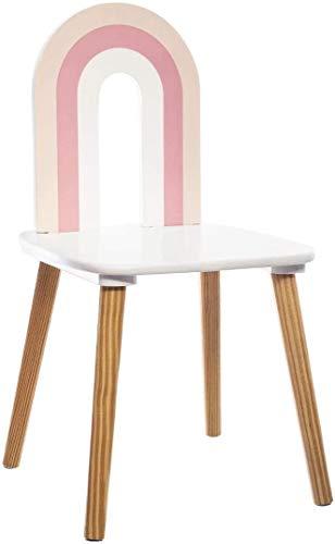 Atmosphera - Silla de madera para habitación infantil (60 cm), diseño de arco, color rosa
