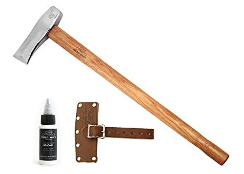 1844 Helko Werk Germany Classic Nordic Splitting Axe - 5.5 lb Wood Splitting Axe Splitting Maul Wood Splitter Scandinavian Axe German Made 13521