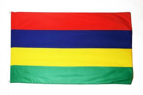 AZ FLAG Flagge Mauritius 90x60cm - Republik Mauritius Fahne 60 x 90 cm - flaggen Top Qualität