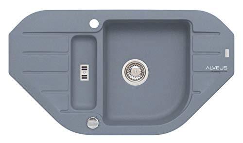 Alveus Küchenspüle aus Granit mit Einzel- und Halbschale Niagara 60-Stahl 4126004