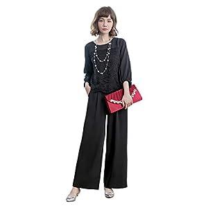 パンツドレス パーティードレス パンツ セットアップ レディース パンツスーツ 大きいサイズ 袖あり パンツドレス 2点セット アンサンブル スーツ レディース フォーマル シンプル